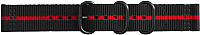 Ремешок для умных часов Samsung Gear Sport Premium Nato / GP-R600BREECAI (черный красный) -