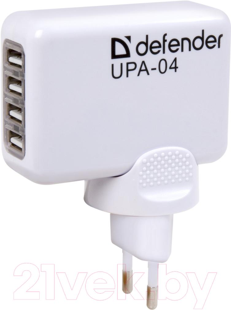 Купить Адаптер питания сетевой Defender, UPA-04, Китай, белый