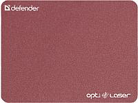 Коврик для мыши Defender Silver Opti-Laser / 50410 (бордовый) -