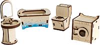 Комплект аксессуаров для кукольного домика Woody Набор мебели. Ванная / 02147 -