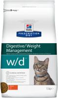 Корм для кошек Hill's Prescription Diet Digestive/Weight Management w/d (1.5кг) -