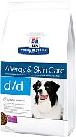 Корм для собак Hill's Prescription Diet Food Sensitivities d/d Duck & Rice (12кг) -