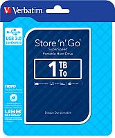 Внешний жесткий диск Verbatim Store 'n' Go USB 3.0 1TB синий (53200) -