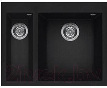 Купить Мойка кухонная Elleci, Quadra 150 (Full Black 40), Италия, искусственный камень