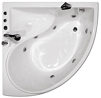 Ванна акриловая Triton Синди 125x125 Базовая (с гидромассажем) -