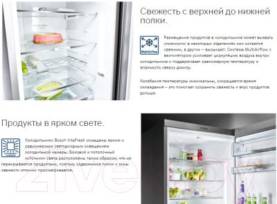 Холодильник с морозильником Bosch KGF39PW3OR