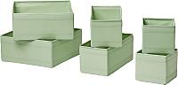 Набор коробок для хранения Ikea Скубб 603.966.06 (светло-зеленый) -
