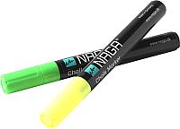 Набор маркеров для доски Naga 22120 (2шт, зеленый/желтый) -