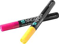 Набор маркеров для доски Naga 22121 (2шт, розовый/оранжевый) -