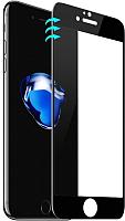 Защитное стекло для телефона Case 3D для iPhone 7 (черный глянец) -