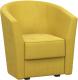 Кресло мягкое Woodcraft Лацио (горчичный велюр) -