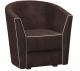 Кресло мягкое Woodcraft Лацио (шоколадный велюр/светлый велюр) -