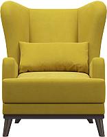 Кресло мягкое Woodcraft Оскар (горчичный велюр) -