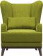 Кресло мягкое Woodcraft Оскар (зеленый велюр) -