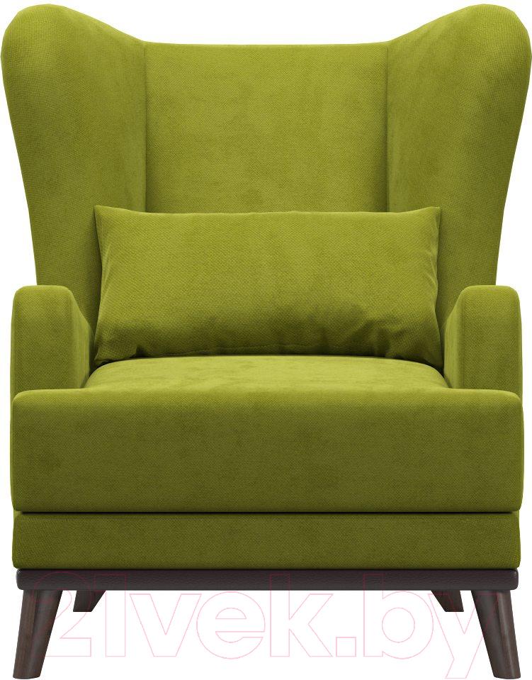 Купить Кресло мягкое Woodcraft, Оскар (зеленый велюр), Россия