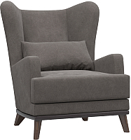 Кресло мягкое Woodcraft Оскар (cветло-коричневый велюр) -