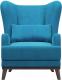 Кресло мягкое Woodcraft Оскар (голубой велюр) -