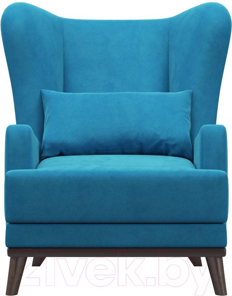 Купить Кресло мягкое Woodcraft, Оскар (голубой велюр), Россия