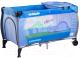 Кровать-манеж Caretero Medio (голубой) -