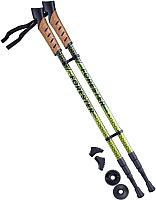 Палки для скандинавской ходьбы Berger Forester 67-135 (болотный/желтый) -