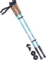 Палки для скандинавской ходьбы Berger Forester 67-135 (белый/мятный) -