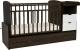 Детская кровать-трансформер Альма-Няня Соната 552038-1 (венге/белый) -