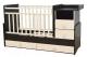 Детская кровать-трансформер Антел Ульяна-4 (венге/слоновая кость) -