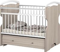 Детская кроватка Атон Elsa с маятником и ящиком (шимо светлый) -