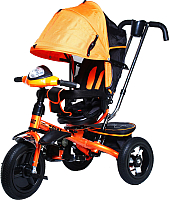 Детский велосипед с ручкой Trike Favorit Premium FTP-1210 (оранжевый) -