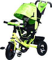Детский велосипед с ручкой Trike Favorit Rally FTR-1210 (зеленый) -