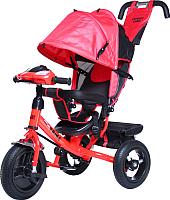Детский велосипед с ручкой Trike Favorit Rally FTR-1210 (красный) -