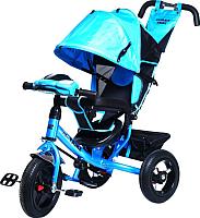 Детский велосипед с ручкой Trike Favorit Rally FTR-1210 (синий) -