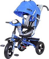 Детский велосипед с ручкой Trike 5588A-2 (синий) -