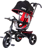Детский велосипед с ручкой Trike 5588A-2 (черный/красный) -