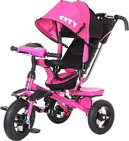 Детский велосипед с ручкой Trike 5588A-1 (розовый) -