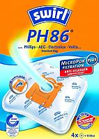 Комплект пылесборников для пылесоса Swirl PH86/4 MP Plus Airspace -
