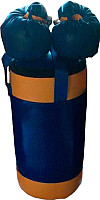 Набор для бокса детский KMS sport №2 (синий/желтый) -