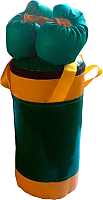 Набор для бокса детский KMS sport №2 (зеленый/желтый) -
