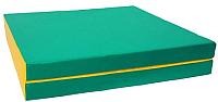 Гимнастический мат KMS sport Складной №8 1x2x0.1м (зеленый/желтый) -