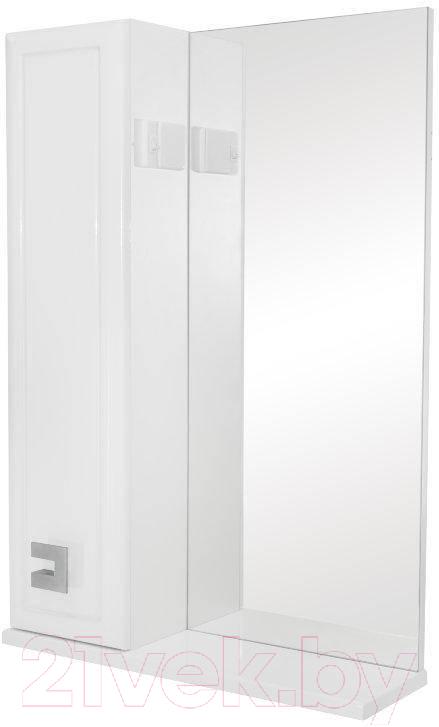 Купить Шкаф с зеркалом для ванной Аква Родос, Мобис 55 L (без подсветки), Украина