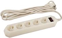 Сетевой фильтр ЭРА USF-5es-5m-I / Б0019739 (5м) -