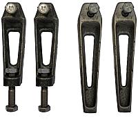 Ножки опорные Универсал Комплект 2 (2 нерегулируемые/2 регулируемые) -