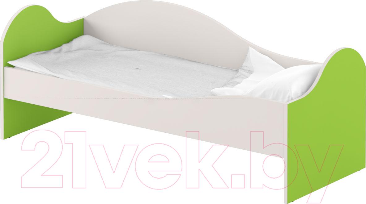 Купить Односпальная кровать Славянская столица, ДУ-КО12-2 (белый/зеленый), Беларусь