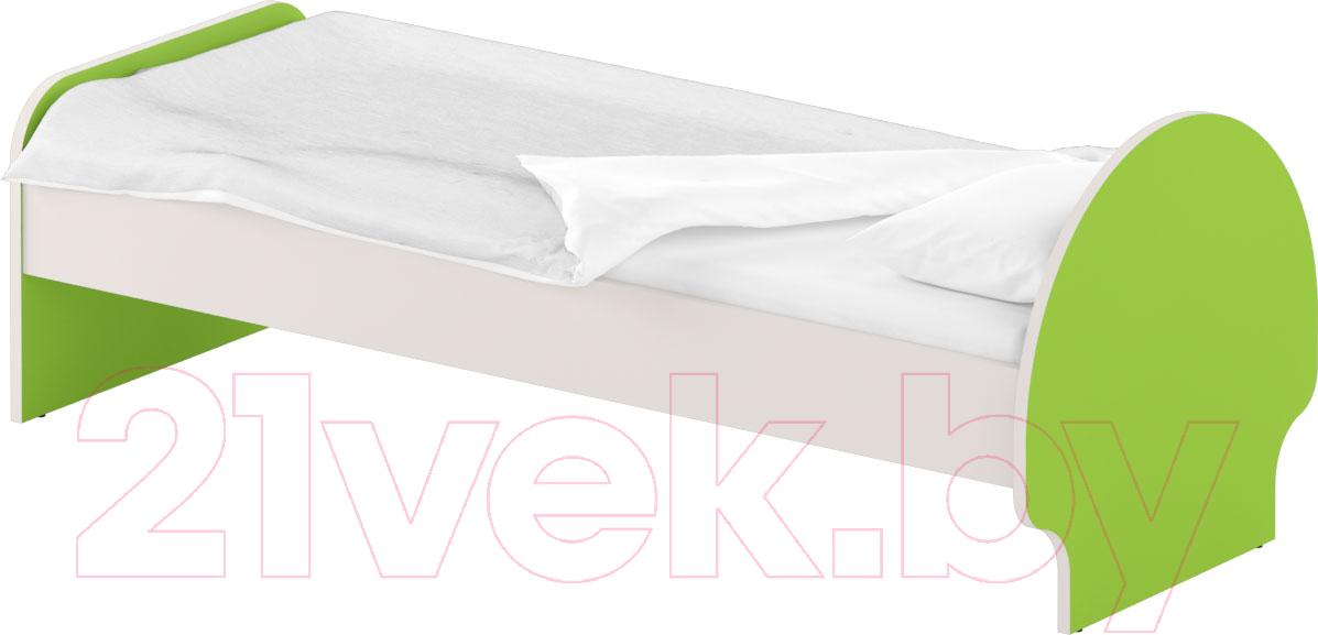 Купить Односпальная кровать Славянская столица, ДУ-КО12-3 (белый/зеленый), Беларусь