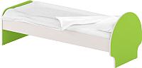 Односпальная кровать Славянская столица ДУ-КО14-3 (белый/зеленый) -