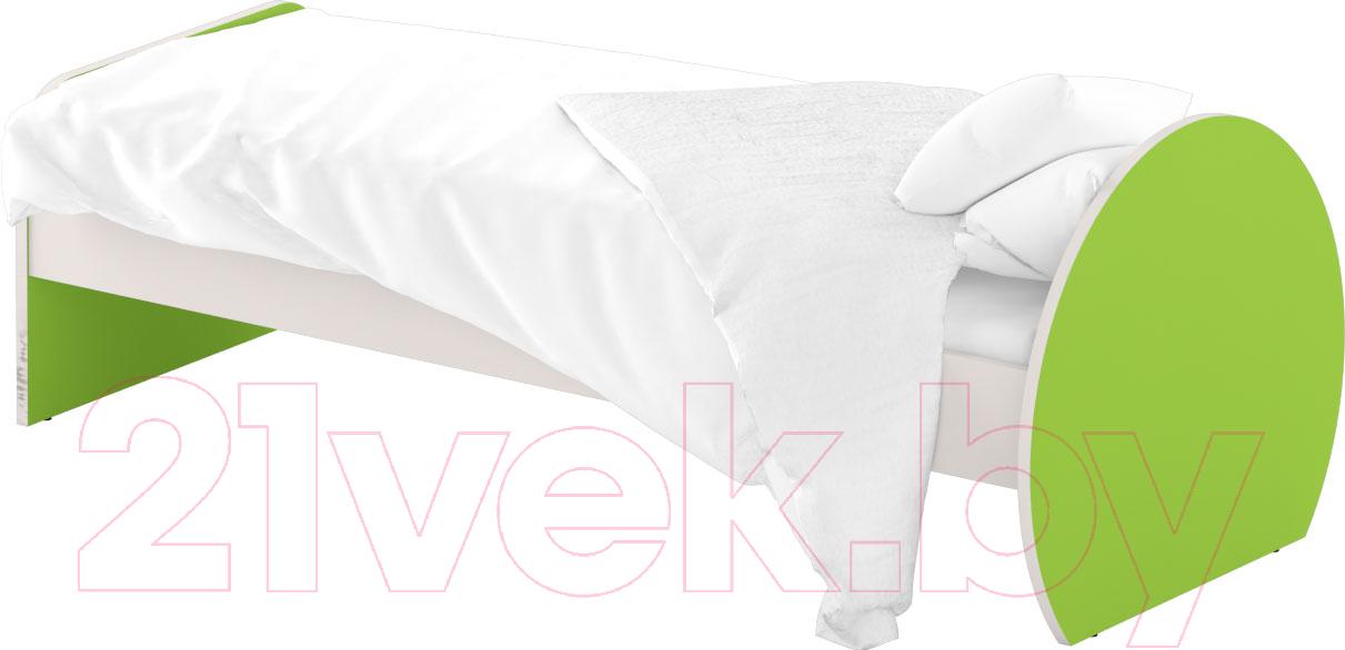 Односпальная кровать Славянская столица, ДУ-КО12-7 (белый/зеленый), Беларусь  - купить со скидкой