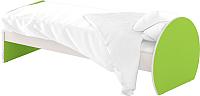 Односпальная кровать Славянская столица ДУ-КО14-7 (белый/зеленый) -