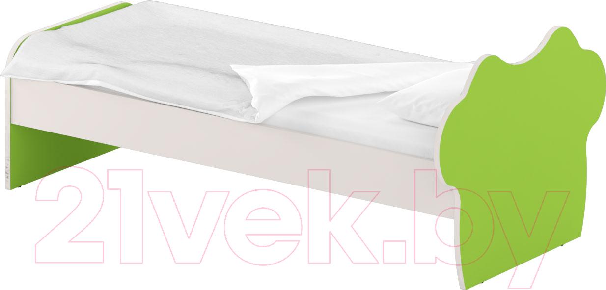 Купить Односпальная кровать Славянская столица, ДУ-КО12-8 (белый/зеленый), Беларусь