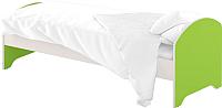Односпальная кровать Славянская столица ДУ-КО12-12 (белый/зеленый) -