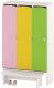 Шкаф Славянская столица ДУ-ШР3-1 (белый/розовый/желтый/зеленый) -